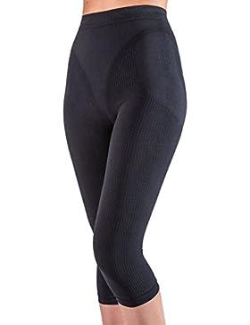 Pantalón corto anti-celulítico, vaina con funda interna sin costuras - Negro tamaño S