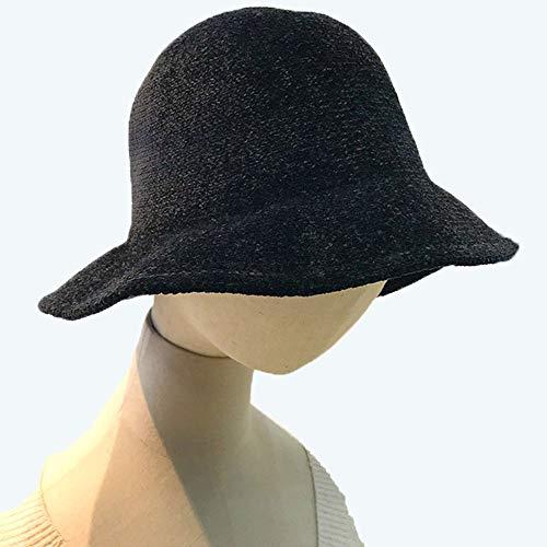 Huichao Mode Pliable 5 Couleur Chapeau de pêcheur Chapeau Adulte,Black