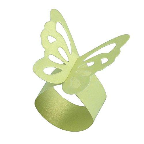 terling Serviette Ringe Hochzeiten Event Party Supplies Tisch Abendessen Decor grün ()