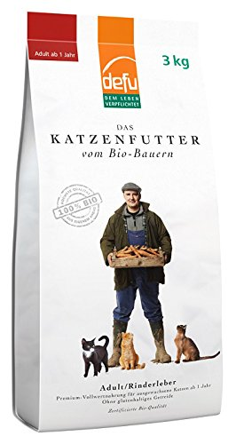 defu Bio Trockenfutter Rinderleber für Katzen 3 kg, 1er Pack (1 x 3 kg)
