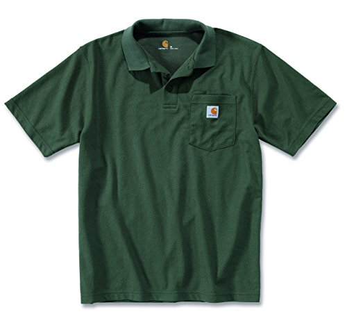 Carhartt Workwear T-Shirt Contractor´s Work Pocket Polo - Moss (M) (Grüne Knopf-front-shirt)