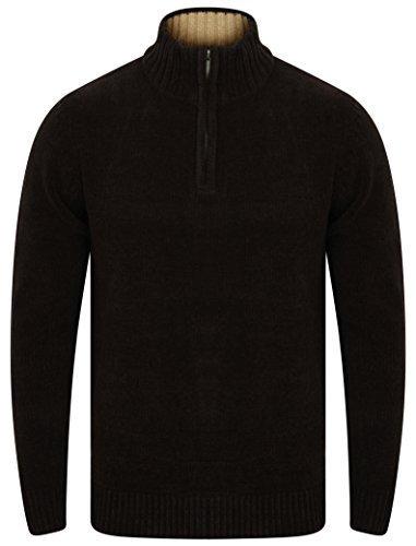 Herren Chenille Strickpullover Kensington Eastside Pullover mit Rollkragen Winter - schwarz - 1a9459b, XX-Large (Schwarze Chenille-pullover)