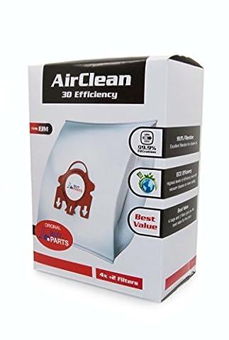Miele FJM Airclean 3D Efficiency Dust Bag, Type FJM, 4 Bags & 2 Filters (.0)