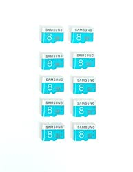 Generic Samsung 8GB Class 6 Memory Card with Out Retail Pack (Combo of 10)