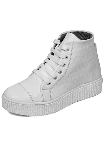 Beonza Women White High Ankle Sneakers Casual Boots Shoes-BZRVL037-WHT-HIGHANKLE_41  available at amazon for Rs.349