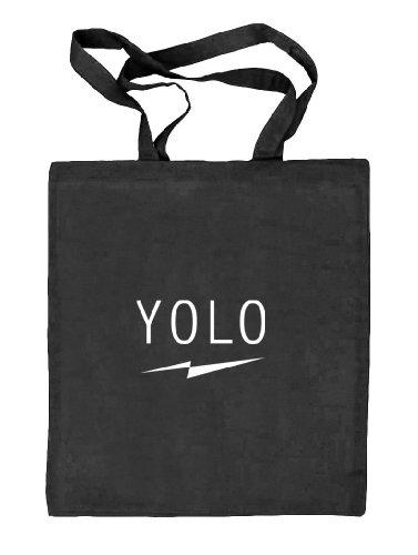 Shirtstreet24, YOLO FLASH, Natur Stoffbeutel Jute Tasche (ONE SIZE) schwarz natur