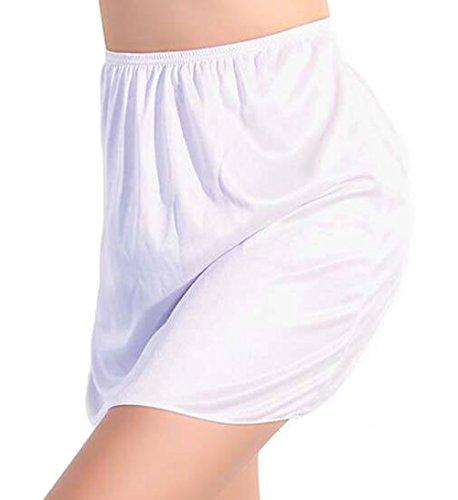 Sottoveste intima slip mezza sottogonna mezza lunghezza con vita elasticizzata da donna