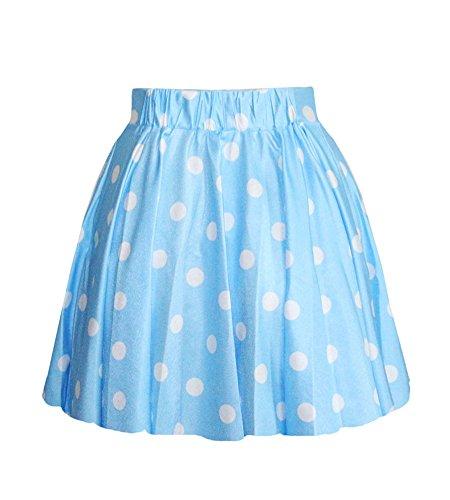 Molly Tutu Jupe Dot Short Mini Jupes Plissée Des Femme Bleu Clair