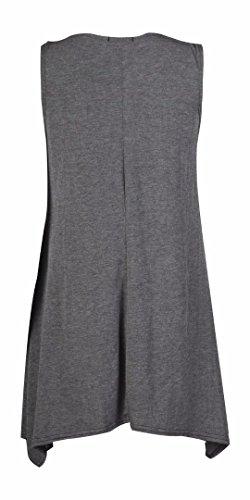 Fast Fashion Damen Schaukel Kleid Plus Size Ärmelklar Holzkohle 1
