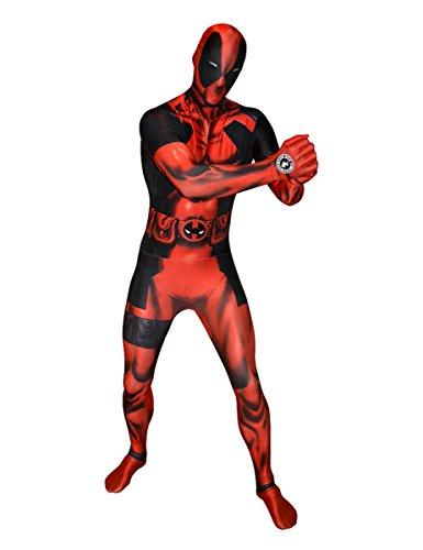 Marvel Deadpool Digital Morphsuit Lizenzware rosso nero