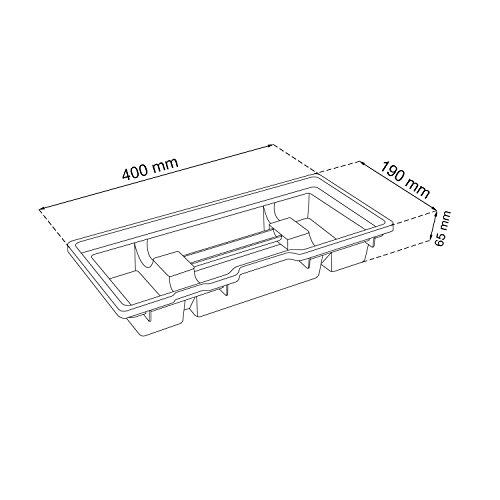 HD Compact 1 Werkzeugkoffer Box Toolbox Werkzeugkiste 450x350x350 Alugriff schwarz - 3