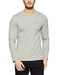 Monte Carlo Mens Solid Regular Fit T-Shirt (217039917-3_Grey_40)