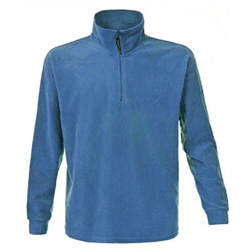 JAMES & NICHOLSON Giacca e felpa sportiva in fleece pesante Light-Blue