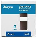 Kopp Paris Spar-Pack: 4 Universalschalter(Aus- und Wechsel),652626010