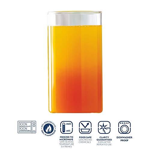 Borosil Trinkgläser | 350 ml | 6er Set | Sehr leicht, schlicht & dünnwandig | Bleibt klar | Spülmaschinenfest | Mikrowellengeeignet | VISION CLASSIC SERIE