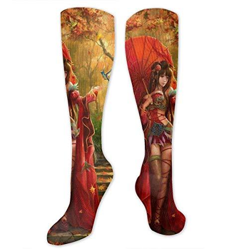 Jxrodekz Knee High Socks Japan Women Japanses Women Knee High Compression Stockings Athletic Socks Personalized Gift Socks for Men Women Teens Girls