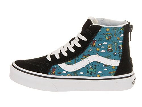 Vans Jungen Uy Sk8-Hi Zip Hohe Sneakers (dino Party) Black/larkspur