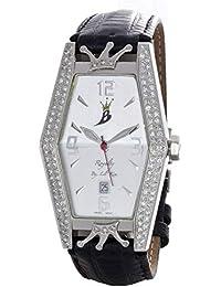 cef85f5e9 Aqua Master Royalty by Lil' Kim Women's Black Leather Diamond Watch