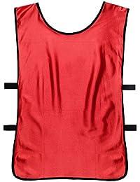Lmeno Soccer babero DIVISE pettorine Fútbol Red Camisetas Portadorsal rápido essiccazione Calcetto angulares Entrenamiento pechera abbigliamento
