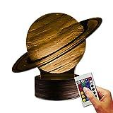 Stuff4Players Universum Dekolampe Planet Saturn (3D-Hologramm Illusion)