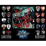 Printed Picks Company Slipknot Framed 20 Guitar Pick Set Platinum