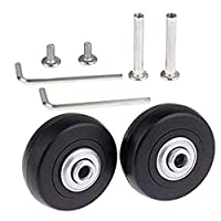 Yoodeet Black Luggage Suitcase / Inline Outdoor Skate Replacement Wheels with ABEC 608zz Bearings (50×18mm)