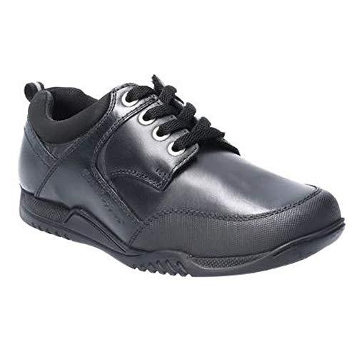 Hush Puppies Dexter SNR, Zapatos para Uniformes de Escuela para Niños, Negro, 39 2/3 EU