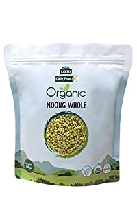 Organic Moong Whole 500 gm - Laxmi Daily Feast