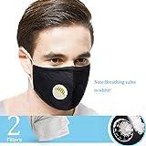 Maschera unisex, riutilizzabile, anti-polvere, lavabile, anti-appannamento, con 6 filtri dal design ergonomico
