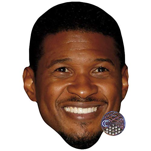 (Celebrity Cutouts Usher (Smile) Maske aus Pappe)