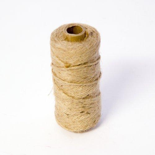 1 Rotolo Oasis Mossing Spago Di Iuta Corda cravatta- Naturale x 75m per Fiorista, Floreale, Fiori, Giardino, Piante, Artigianato - 2 - confezioni
