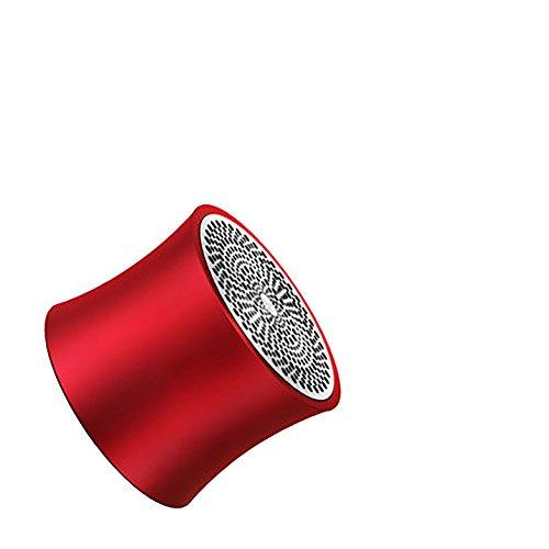 Drahtlose Bluetooth Lautsprecher Mini Kleine Sound Telefon Übergewicht Subwoofer Outdoor Tragbare Auto Auto Audio Computer Sammlung Intelligente Kleine Neue Notebook (Farbe : Rot) -