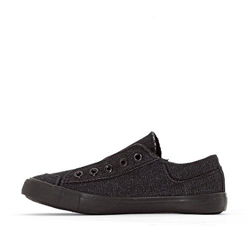 R Edition Jungen Flache Sneakers Schwarz