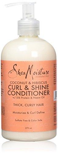 Feuchtigkeitsspendend Balsam mit Sheabutter, Kokosöl und Hibiskus, für glänzendes, volles Haar, 379 ml -