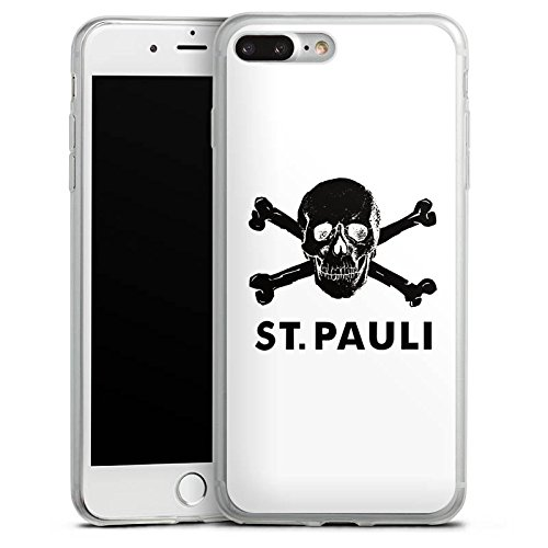 Apple iPhone X Slim Case Silikon Hülle Schutzhülle FC St. Pauli Fanartikel Fußball Silikon Slim Case transparent