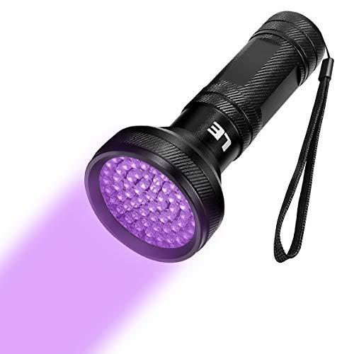 LE LED UV Schwarzlicht Taschenlampe mit 65 LEDs, Ultraviolettes Licht mit 395nm für Geocaching, Heimtierurindetektoren, Haustiere Urin-Detektor usw.