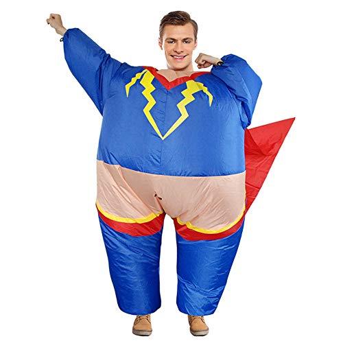 BaronHong Piggyback Adult aufblasbare Kleidung Halloween-Kostüm Karneval Party (Superman, M) (Aufblasbares Superman Kostüm)