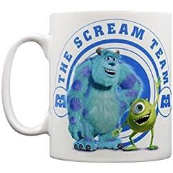 """Disney Pixar Monsters Inc Scream equipo """"taza de cerámica, multicolor"""