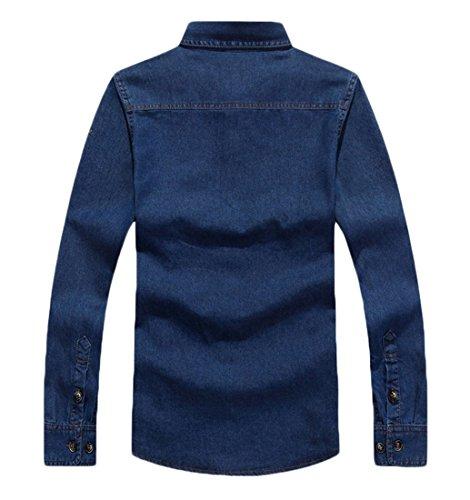 Insun Herren Freizeit-Hemd Blau - Blue 5873