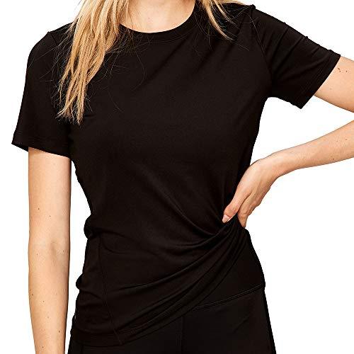 LOLË Cardio Camiseta de Manga Corta, Mujer, Negro (Black), M