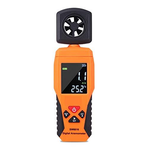 Peanutaod Digital-Anemometer-Thermometer-Temperatur-Tester Tragbarer Wind Luftgeschwindigkeit Messgerät Meter Windmesser Mess