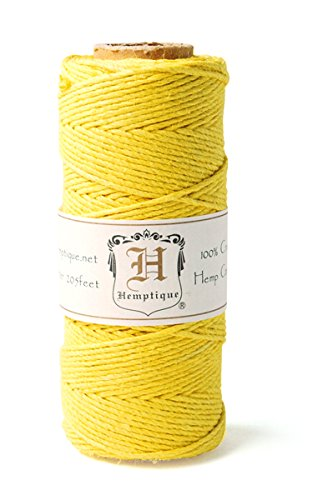Hemp Cord Spool 20# 205'/Pkg-Yellow -