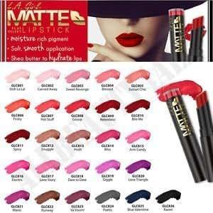 LA GIRL Matte Flat Velvet 26PCS Lipstick Brand New Colors
