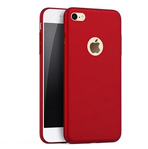 iPhone X hülle, Eouine Ultra Dünn Matte Schutzhülle Stoßfest [Anti-Fingerabdruck] [Anti-Scratch] Slim HardCase Bumper Cover Handyhülle Schlanke Tasche für Apple iPhone X Edition (2017) 5.8-inch Smartp Rot