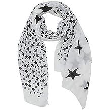 ac91b379902619 t*fd Damen Tuch Schal mit STERNE Print oder mit Stickerei Vintage washed  Look Halstuch