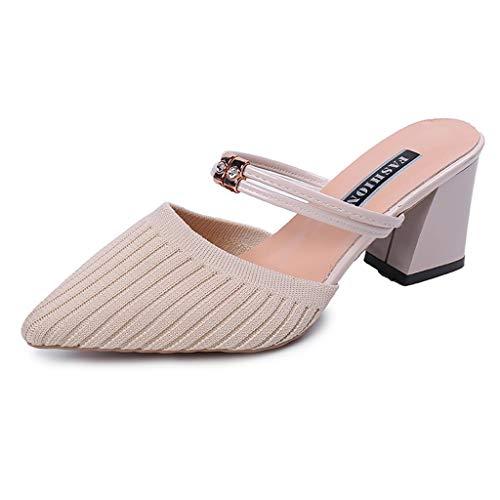 Bluestercool Sandali Donna Signore Estate Scavare Sandali Cuneo Fibbia Scarpe Casual Eleganti Donna Bassi Moda Sandali da