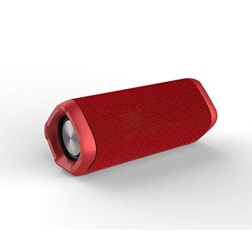 Zéro Point de départ Enceinte Bluetooth sans Fil Caisson de surpoids Ultra-résistant et imperméable à l'eau Haut-Parleur Bluetooth antipoussière,Red,7in*2.6in*2.7in