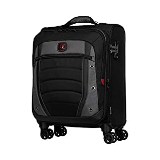 Wenger Synergy 20″ Expandable Softside Luggage Carry-On – Gris/Negro Maleta, 54 cm, 48.4 Liters