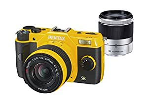 Pentax Q7 Compact System Camera with 5-15mm and 15-45mm Zoom Lens Kit - Yellow (12MP) 3.0 inch HD LCD