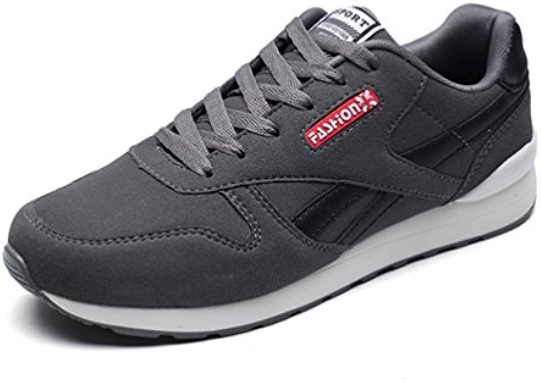 Hombres Zapatillas Casual Zapatos de Malla Transpirable Zapatos de Encaje hasta Pisos Masculinos